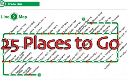 25 Places to Go on a Single Seoul Subway Line (#2)!
