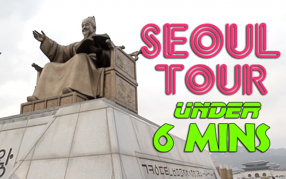 Touring and YouTubing Seoul Under 6 Minutes!