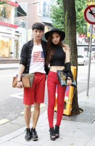 Korean street fashion via lefas.co.kr