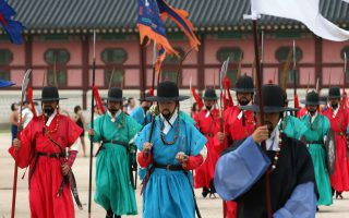 Changing of the Guards ceremony (via Korea)