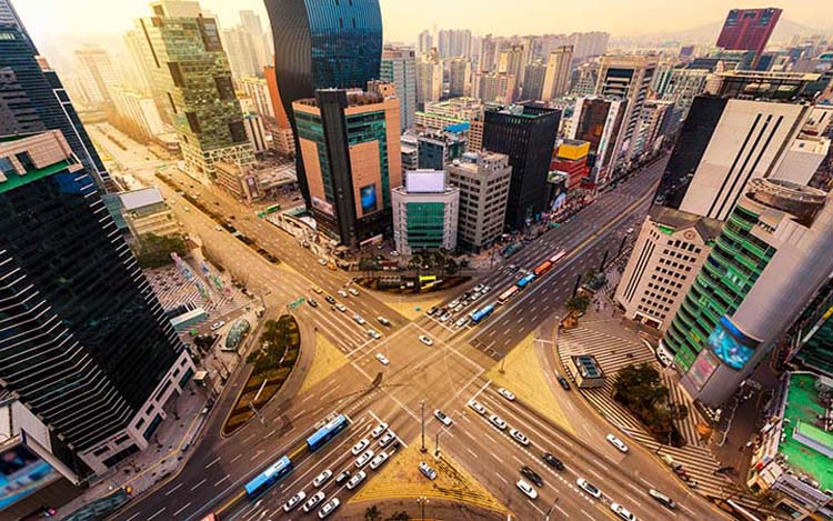Gangnam Station is Seoul's largest transportation hub. You'll have access to nearly every corner of Seoul as well as satellite cities with 3 major subway lines (2, 9 & New Bundang), both local and express busses and taxis galore.